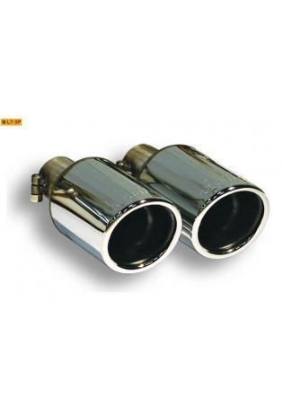 Supersprint Sportauspuff Endrohrsatz 2x90mm - Porsche Boxster Typ 987 2.9i ab Bj. 09 und S 3.4i ab Bj. 10 und Cayman 2.9i ab Bj. 09 und S 3.4 ab Bj. 10 und R 3.4i ab Bj. 11