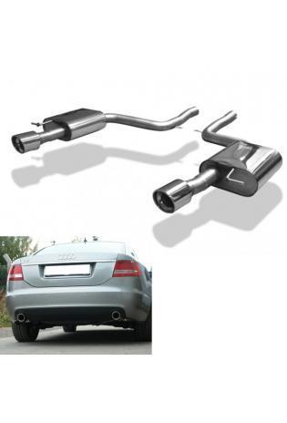FOX Sportauspuff Audi A6 Typ 4F Quattro Limousine Avant - rechts links je 1 x 90mm schräg (RohrØ 63.5mm)