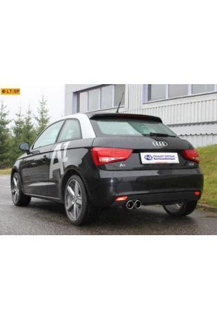 FOX Komplettanlage ab Kat Audi A1 Kompakt u. Sportback ab Bj. 10 1.2l TFSI 1.6l TDI 2 x 90mm abgeschrägt (RohrØ 55mm)