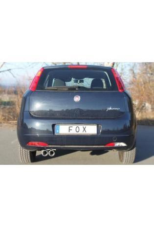 FOX Sportauspuff Fiat Grande Punto 199 1.2l 1.4l  2x 76mm eingerollt mit Absorber