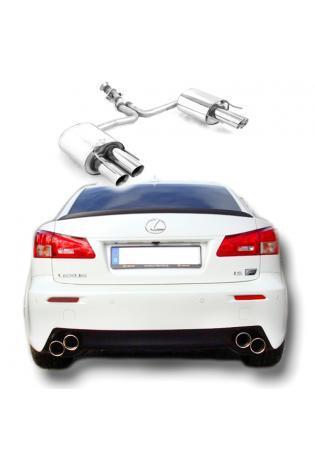 FOX Sportauspuff Lexus IS F ab Bj. 05 5.0l - rechts links je 2 x 90mm mit Type-B-Einsatz (RohrØ 55mm)