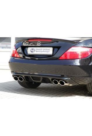 Fox Sportauspuff Mercedes SLK Typ R172 SLK 200  SLK 250  SLK 350 - rechts links je 2 x 115x85mm oval (RohrØ 50mm)