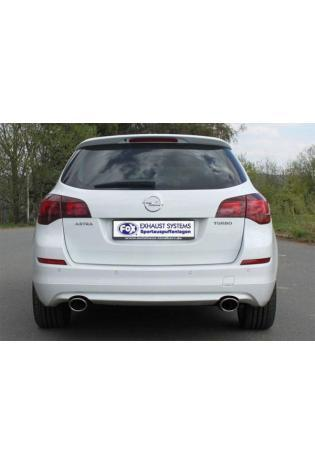 FOX Sportauspuff Opel Astra J Sports Tourer ab Bj. 09 1.4l Turbo / 1.6l Turbo - rechts links je 1 x 115x85mm oval (RohrØ 63.5mm)