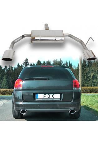 FOX Duplex Sportauspuff Opel Signum Sportheck 2.0l 2.8l 3.2l rechts links je 1x140x90mm oval