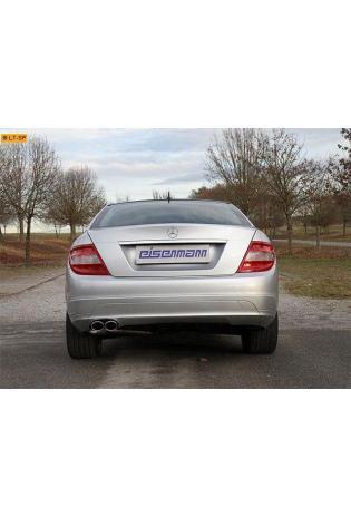 EISENMANN Sportauspuff Mercedes C-Klasse W204 S204 C200K - 2 x 90x70mm RACE Version
