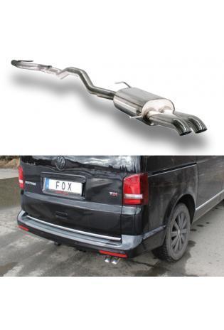 FOX RACING Anlage ab Kat VW Bus T5 T6 2.0l  3.2l und Diesel 2x63mm Dieseloptik