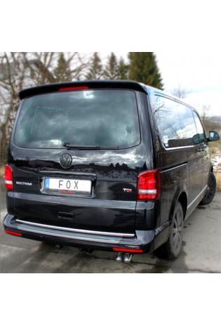 FOX Sportauspuff VW Bus T5 T6 4motion 3.2l  2.5l TDI - 2 x 63mm Dieseloptik (RohrØ 63.5mm - 2x55mm)
