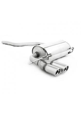 FOX Komplettanlage ab Kat VW Tiguan 4Motion ab Bj. 07 2.0l TDI 2 x 80mm schräg