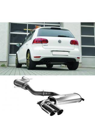 FSW Sportauspuff Komplettanlage VW Golf 6 1.4l TSI  2 x 76mm Edelstahl  GRUPPE A+