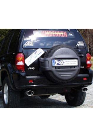 FOX Sportauspuff Duplex Endschalldämpfer Edelstahl Jeep Cherokee KJ ab Bj.  01  rechts   links je 1 ER 115x85mm   eingerollt   15 Grad abgeschrägt   mit Absorber