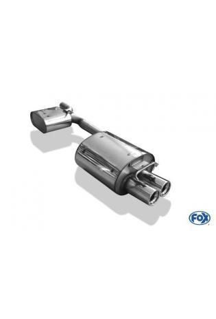 Fox Komplettanlage ab Kat. Mercedes SLK R170 SLK 200  SLK 230  2 x 80mm (RohrØ 63.5mm)