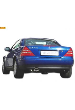 Fox Komplettanlage ab Kat. Mercedes SLK R170 SLK 200  SLK 230 1 x 135x80mm flachoval (RohrØ 63.5mm)