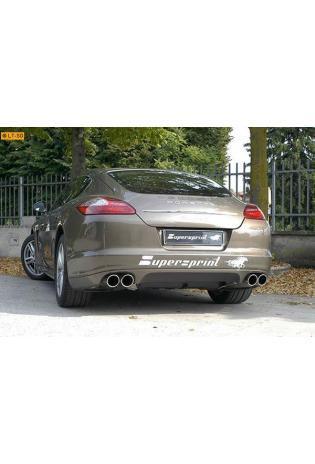 Supersprint Sportauspuffanlage (rechts-links) 2x100 inkl. Vorschalldämpfer - Porsche Panamera S u. 4S ab 2010