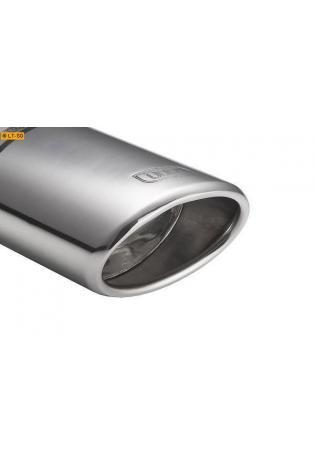 ULTER Sportauspuff 1 x 95x65mm schräg oval - Opel Astra J ab Bj. 09 1.6l T