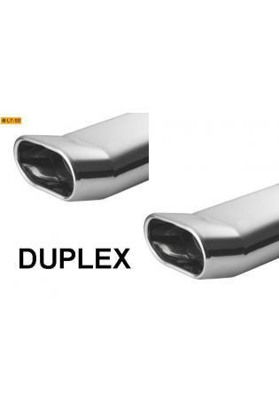 ULTER Sportauspuff rechts links je 1 x 145x75mm flachoval DTM - Opel Tigra ab Bj. 94 1.4l 1.6l