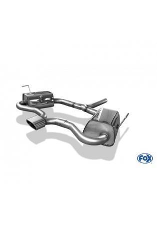 FOX Sportauspuff MINI Cooper S  Bj. 02-06  1.6l  1 x 135x80mm flachoval Ausgang mittig