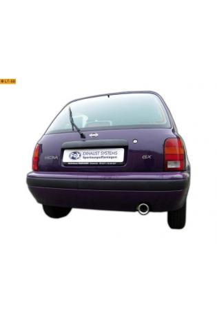 FOX Sportauspuff Nissan Micra II K11 Bj. 92-03  1.0l  1.3l 1.4l 1 x 80mm mit Absorber