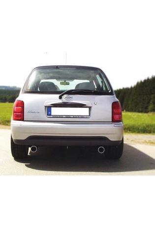 FOX Sportauspuff Nissan Micra K11 Bj. 92-03 1.0l 1.3l 1.4l rechts links je 1 x 80mm mit Absorber