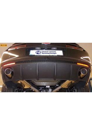 FOX Sportauspuff Chevrolet Camaro SS ab Bj. 11 6.2l - rechts links je 1 x 100mm eingerollt schräg (RohrØ 63.5mm)