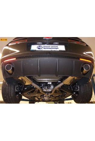FOX Komplettanlage ab Kat Chevrolet Camaro SS ab Bj. 11 6.2l - rechts links je 1 x 100mm eingerollt schräg (RohrØ 63.5mm)