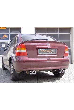 FOX Sportauspuff Opel Astra G Fließheck Bj. 98-04 1.4l bis 2.2l u. 1.7l TD bis 2.2l Dti  re/li je 2 x 80mm