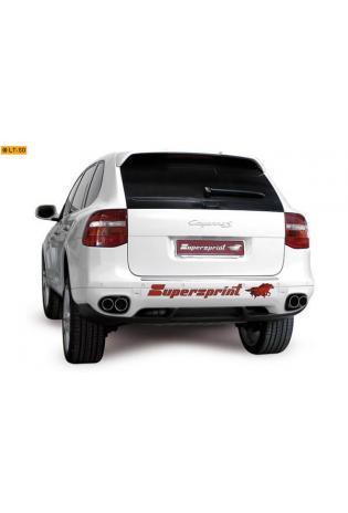 Supersprint Sportauspuff Endrohrsatz 90-80 rund - Porsche 957 Cayenne 3.6i u. S 4.8 ab Bj. 07 u. 3.0d Bj. 09-10