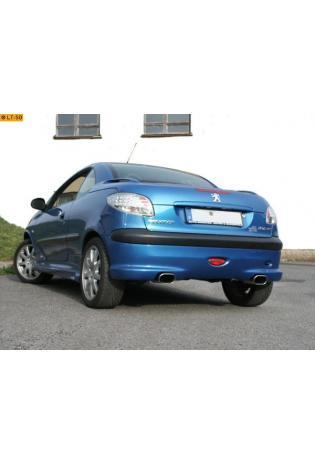 FOX Sportauspuff Peugeot 206 RC ab Bj. 99  2.0l  rechts links 1 x 135x80mm flachoval