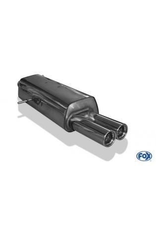 FOX Sportauspuff Endschalldämpfer Edelstahl Peugeot 307 ab Bj. 01  1.4l  1.6l  2 ER  76mm  eingerollt  gerade  mit Absorber