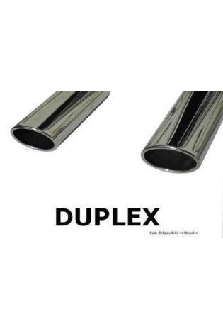 Fox Sportauspuff Duplex Endschalldämpfer für Porsche Cayenne rechts links je 1x115x85mm oval