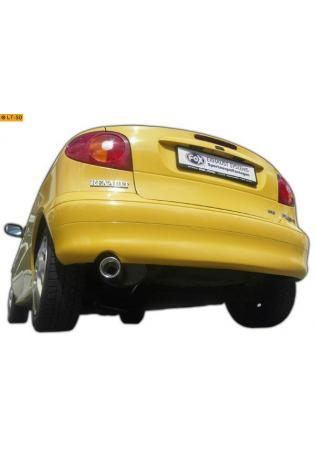 FOX Sportauspuff Renault Megane 1 Coach ab Bj. 95 1.4l  1.6l  2.0l  1.9l TDI   90mm eingerollt gerade mit Absorber