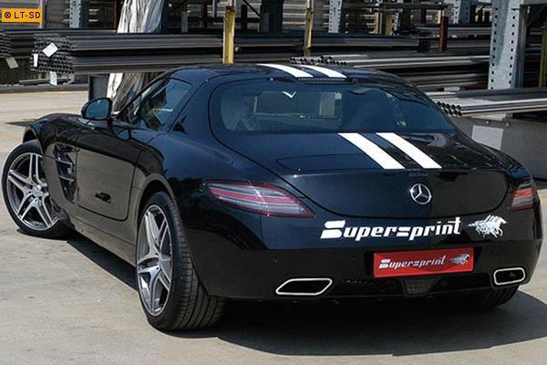 Supersprint Duplex-Sportauspuffanlage ab Kat. mit X-Pipe - Mercedes SLS AMG 6.3i ab 2010