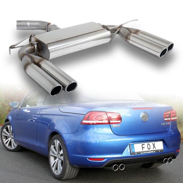 FOX Sportauspuff VW Eos 1F Facelift 1.4l 2.0l - rechts links je 2 x 80mm (RohrØ 70mm)