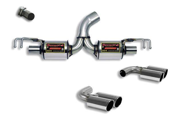 Supersprint Sportauspuff Racinganlage rechts-links 2x80 rund ab Serien-Mittelschalldämpfer - Mitsubishi Lancer EVO 10 2.0i Turbo ab Bj. 08