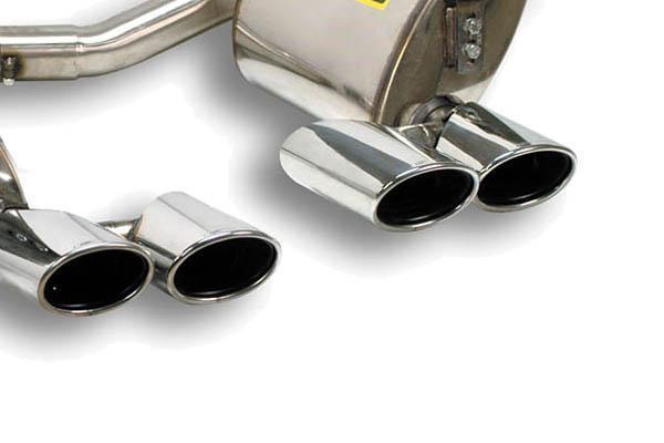 Supersprint Sportauspuff Mercedes C219 CLS 500 Bj. 07-10 - Anlage ab Kat. rechts-links 2x 120x80 oval