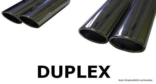 FOX Duplex Endschalldämpfer VW Golf VII 2,0 TDI 4-Motion mit R-Optik Ausgang re/li je 2x115x85 Typ 32
