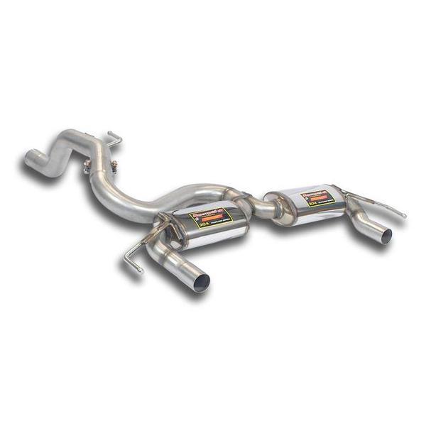 Supersprint Sportauspuff Endschalldämpfer Racing ohne Endrohre Opel Corsa E OPC 1.6i Turbo ab Bj 15
