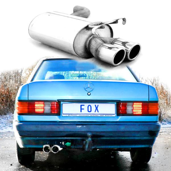 Mercedes e 190 W201 Vorschalldämpfer 55 mm von FOX