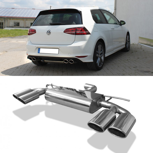FOX Duplex Sportauspuff VW Golf VII Facelift Einzelrad rechts links je 2x115x85mm