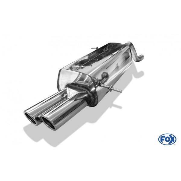 FOX Racinganlage ab Kat. Ford Fiesta VII/ Fiesta VII Sport ab 2009 1.2l 2x70mm