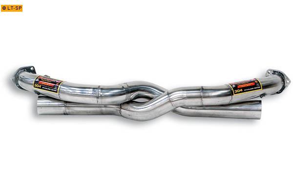 Supersprint Sportauspuff Duplex-Vorderrohr (rechts-links) - Porsche 911 Typ 996 3.4i Bj. 96-01 u. Carrera 4 3.4i Bj. 98-01 und 3.6i u. Carrera 4 3.6i Bj. 02-04 u. Carrera 4S 3.6i ab 02