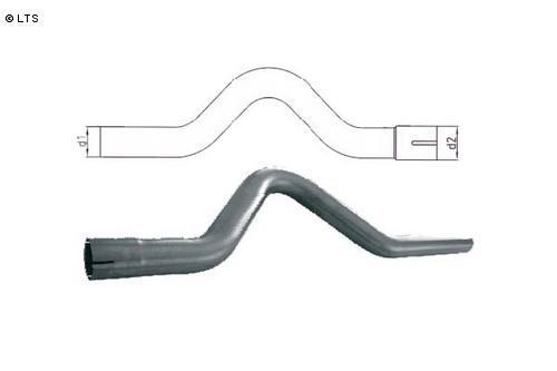 Universalrohr Achsbogen geweitet Ø 101.6mm (d1 Außen) Ø 101.6mm (d2 Innen) Edelstahl