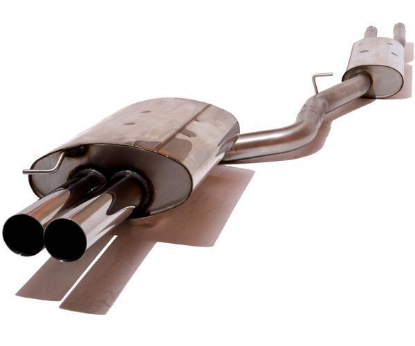 FOX Komplettanlage ab Kat. 2x76mm uneingerollt gerade ohne Absorber Edelstahl BMW E60 u. E61 ab Bj. 03 520i-523i-525i-530i