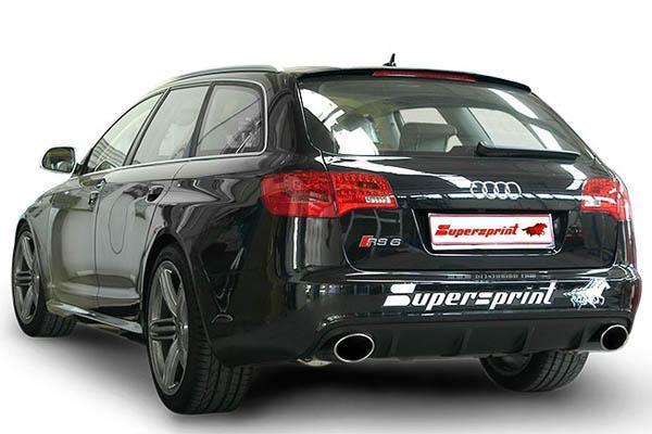 Supersprint Sportauspuff Audi A6 RS6 Quattro 5.0i ab Bj. 10 - Duplex Endschalldämpfer links rechts je 150x105mm oval