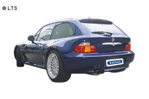 BMW Z3 Roadster 1.9l ab Bj. 98  BASTUCK Racing Komplettanlage ab Kat. 2 x 70mm (AnschlussØ 63mm)