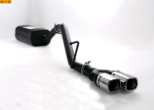 Ulter Sportauspuff 2 x 80x65mm eingerollt - Ford Focus 2 Turnier ab Bj. 2005 1.4l bis 2.0l und 1.8 TDCI