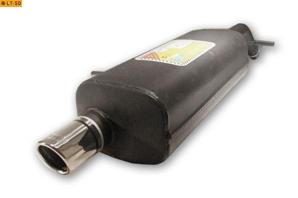 Ulter Sportauspuff 1 x 70mm eingerollt - Citroen C2 ab Bj. 03 1.1l