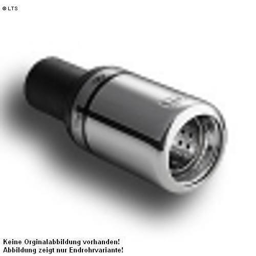Ulter Sportauspuff 1 x 80mm eingerollt - Citroen C2 ab Bj. 03 1.1l