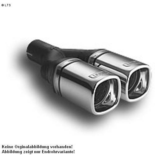 Ulter Sportauspuff 2 x 80mm eingerollt - Opel Tigra ab Bj. 94 1.4l bis 1.6l