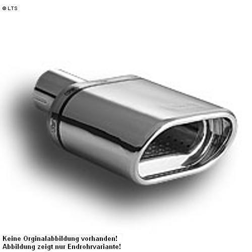 Ulter Sportauspuff 1 x 140x70mm eingerollt - Opel Zafira II ab 05 1.6l bis 1.8l und 1.9 CDTi