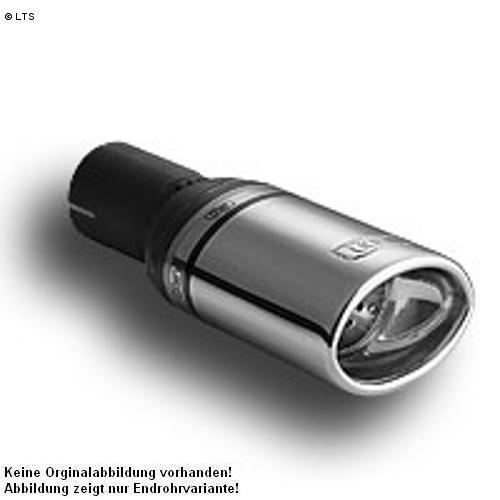 Ulter Sportauspuff 1 x 95x65mm eingerollt - Skoda Octavia II Fließheck und Kombi ab 04 1.6l und 1.9 TDI bis 2.0 TDI